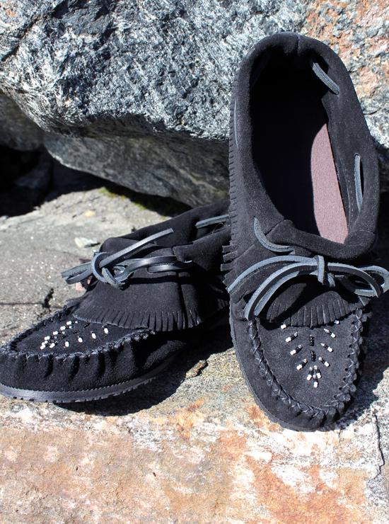 Ladies Moccasins - 161706L Black Suede